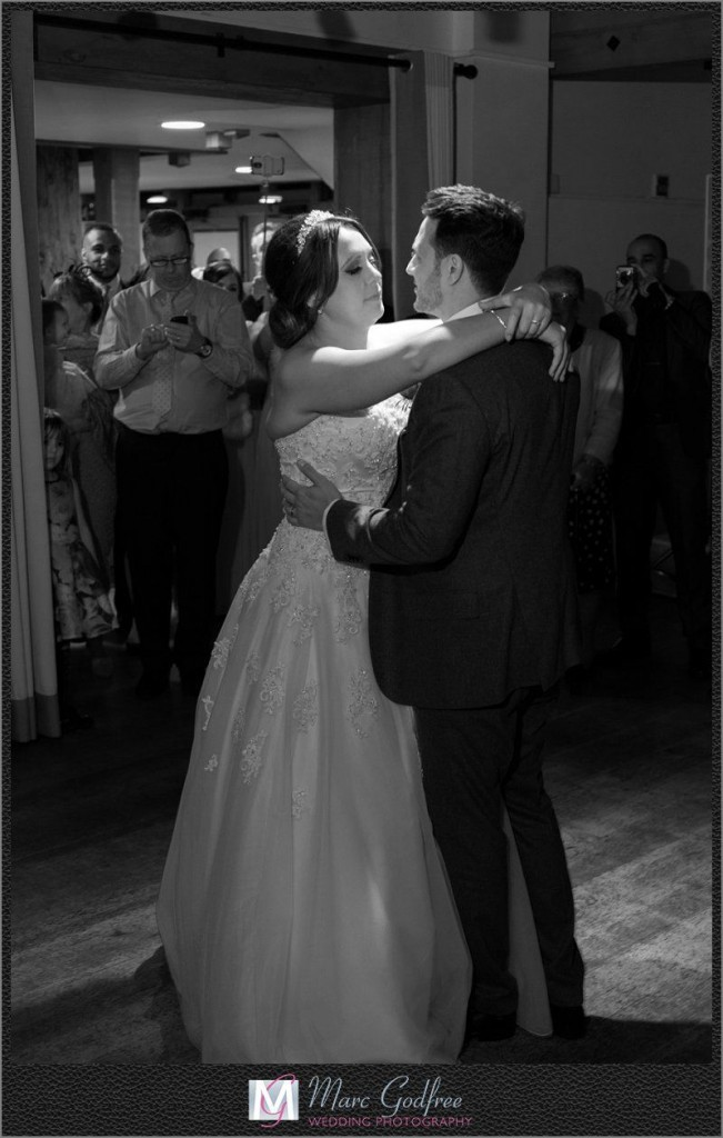 Bride-and-Grooms-First-Dance-at-Gaynes-Park-1