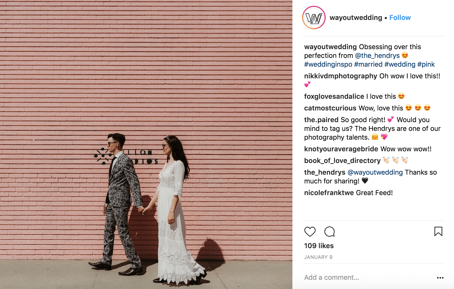 Instagram accounts to follow-wayoutwedding