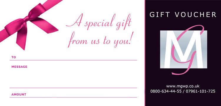 Wedding photography gift vouchers