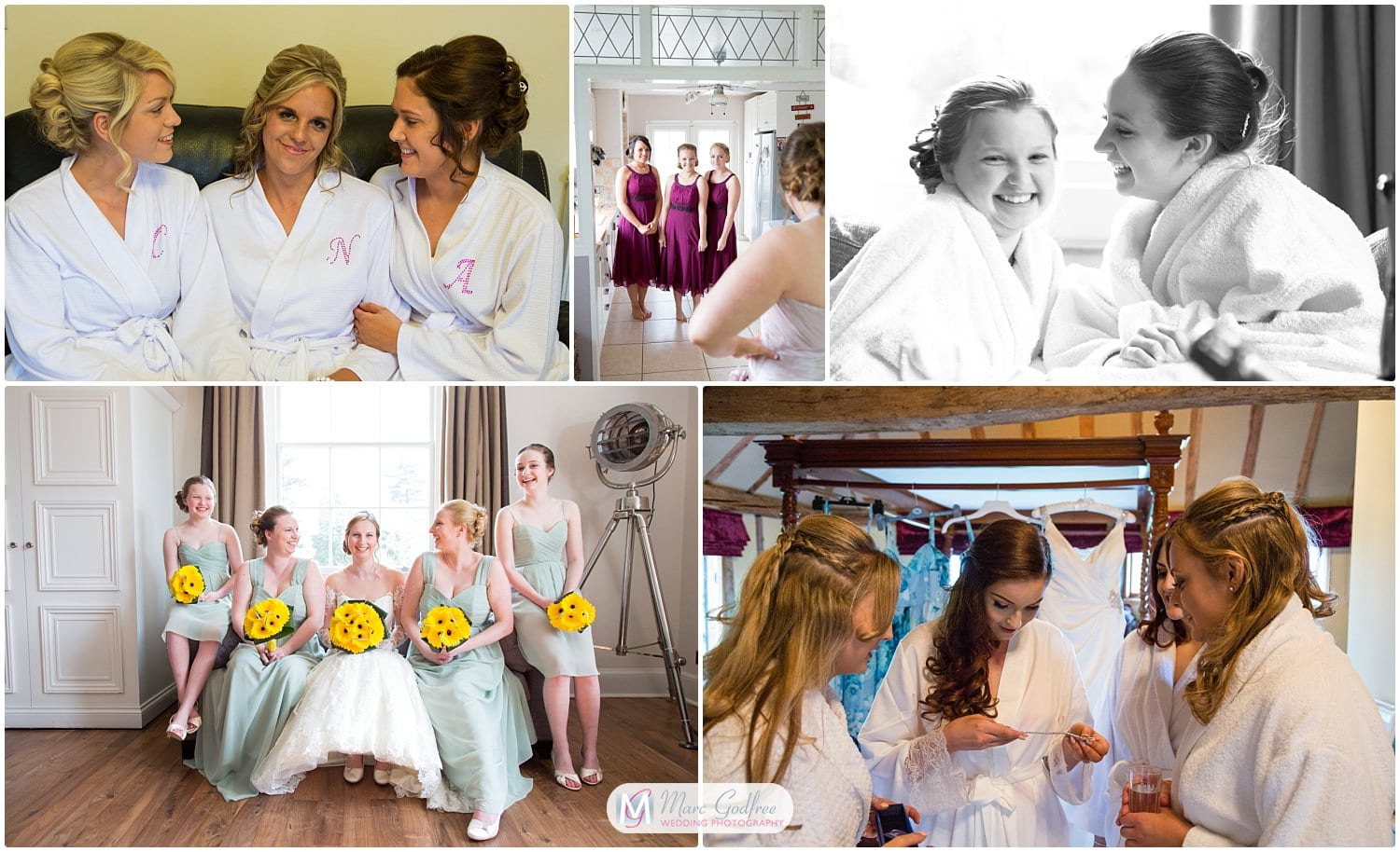 wedding photos you probably didn't considerchilling with bridesmaids