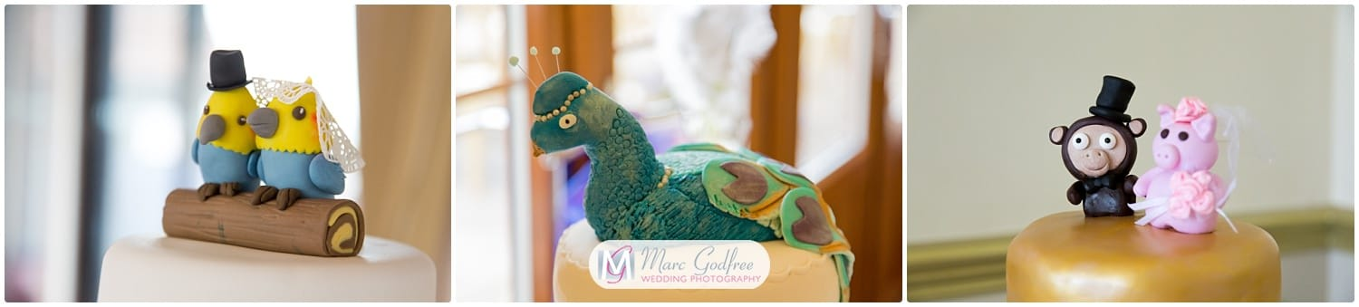 Wedding cake topper trends you'll love-animals and toys