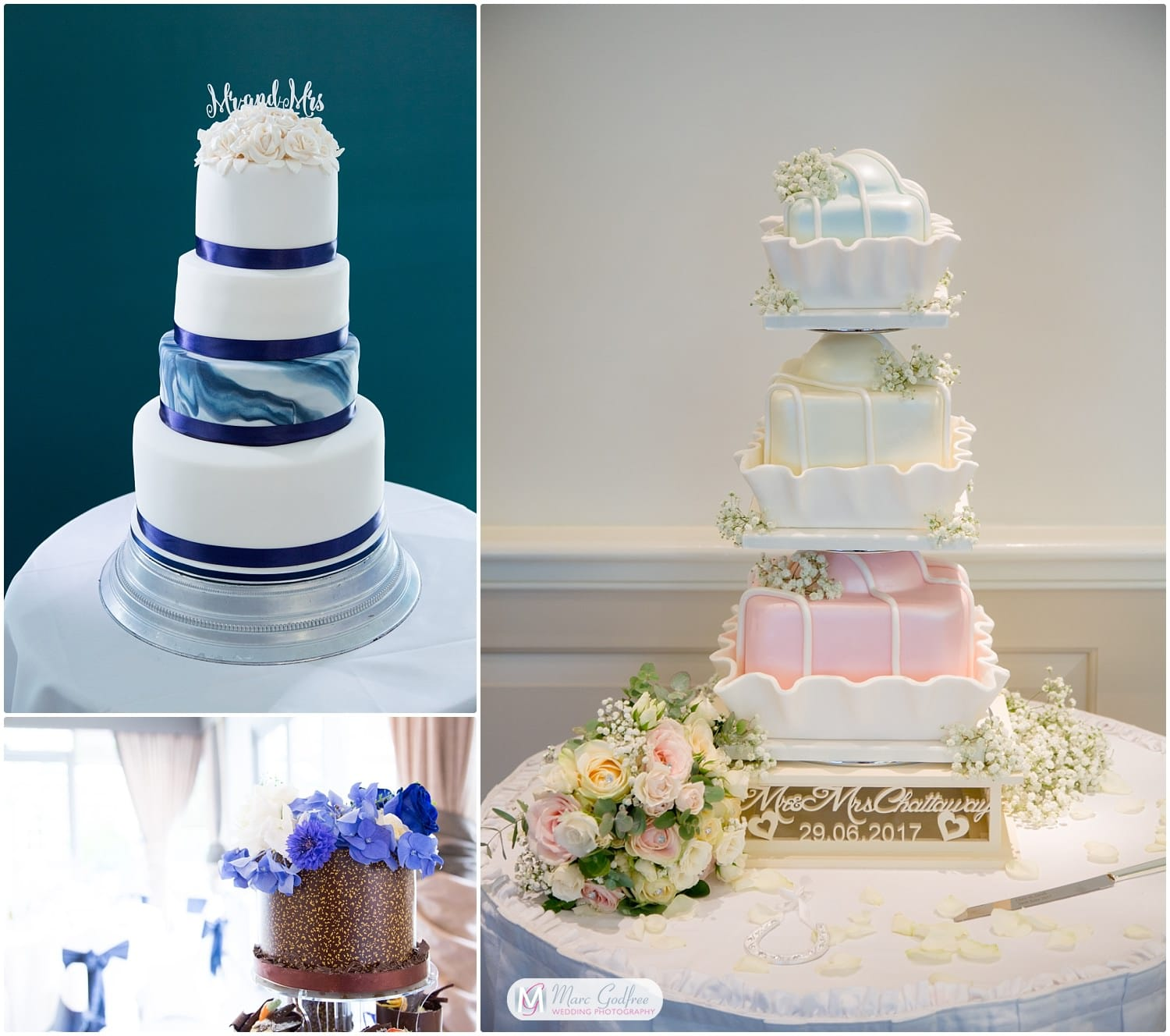 Painted Cakes-2019 summer wedding trends